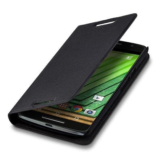 6 opinioni per kwmobile Cover per Motorola Moto X Play- Custodia protettiva apribile a libro
