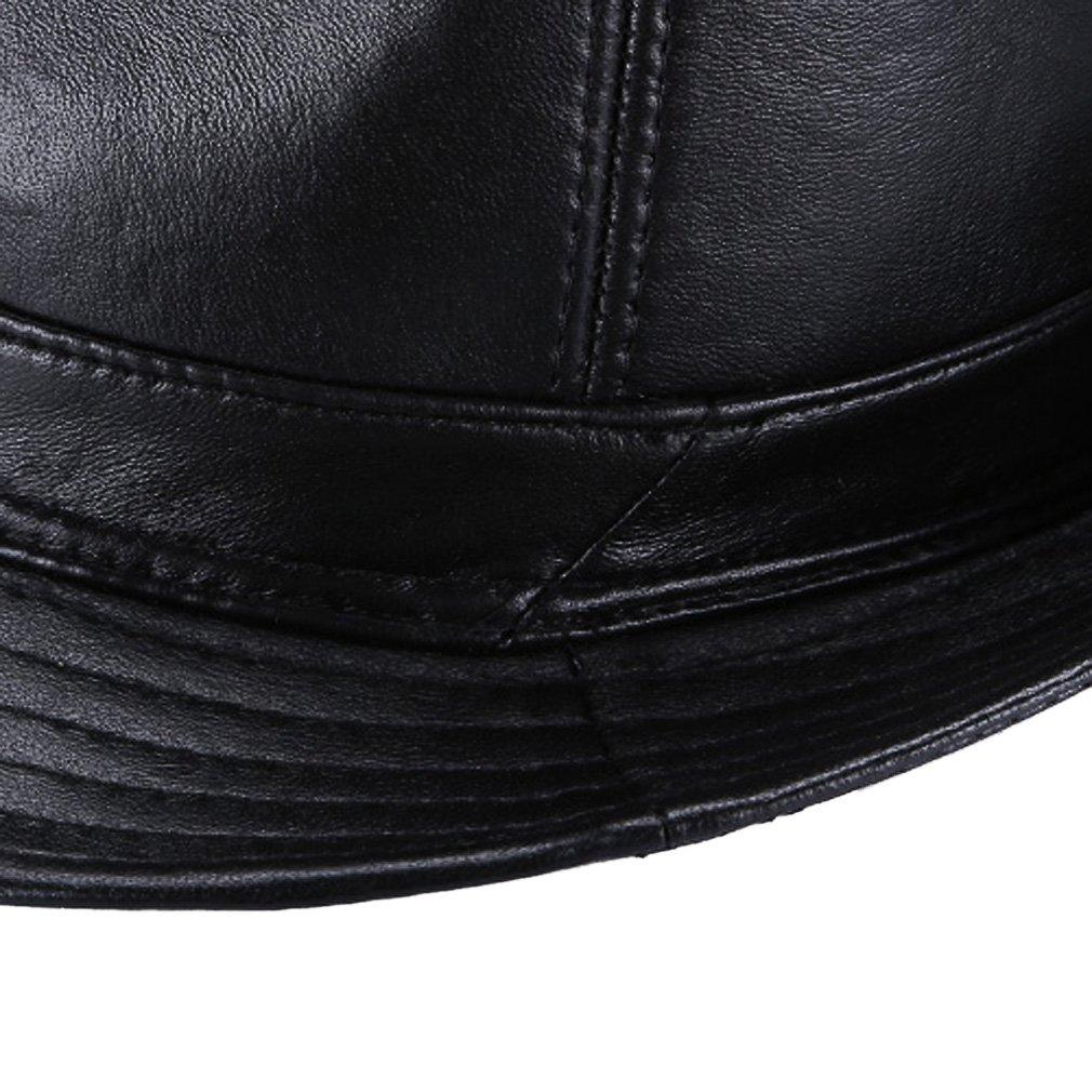 La Vogue-Retro Cappello in Pelle Uomo Jazz Fedora Berretto Pork Pie  All aperto Regolabile Invernale  Amazon.it  Abbigliamento bbb0677b7387
