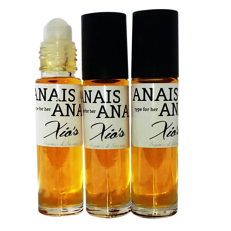Anais Anais Fragrances Body Oils 3 (1/3oz Roll On bottles) for Woman IMPRESSION Alternative Generic Version