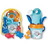 Mind Tools Beach Toys for Kids | Fun for Toddlers, Girls and Boys| Made in Italy (8 Pc Beach Set /W Backpack)