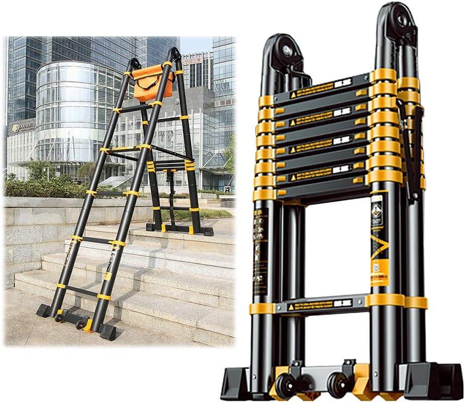 Escalera Telescópica Acceso Loft/Escaleras Extensión de Escalera Alta con Escalón Extra Ancho, Pasos Profesionales para Trabajo Pesado en Interiores y Exteriores, Apoyo 150 Kg: Amazon.es: Hogar