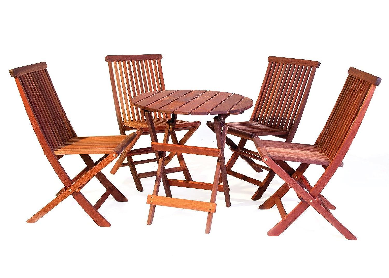 Bistro Gartenmobel Set Runder Tisch 70 Cm 4 Stuhle Aus