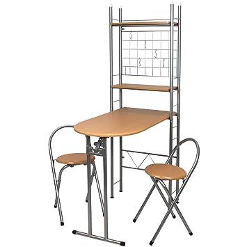 Kesper Küchenbar mit Tisch und 2 Stühlen - Küchentisch - Küchenstuhl ...