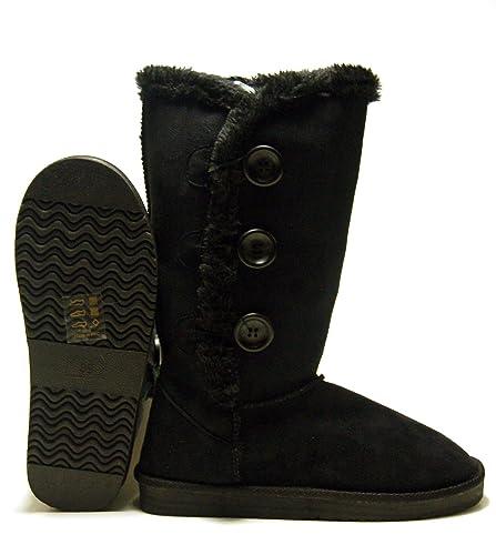 new concept 4dbb7 dc5dd Damen Winter Stiefel Boots warm Gefüttert Kunst Fell ...