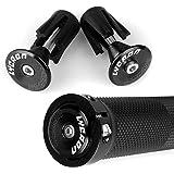 LYCAON Bike Handlebar Grips, Non-Slip-Rubber Adjustable Bicycle Handle Grip Aluminum Lock, Mountain Road Foldable Bike MTB BMX Two Rubber Aluminum Expandable End Caps