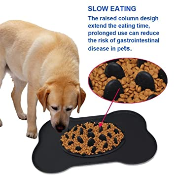 Skyworld - Comedero para perro con forma de cuenco lento, comedero interactivo, comedero lento