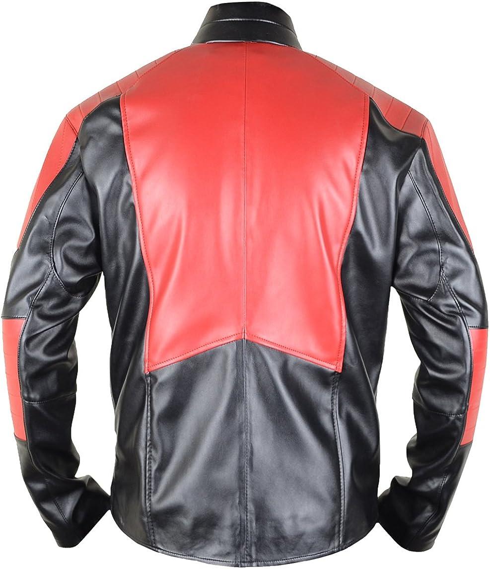 Ville MSHC Super V1 Jacket Fitted Small Leather Jacket Black /& Red