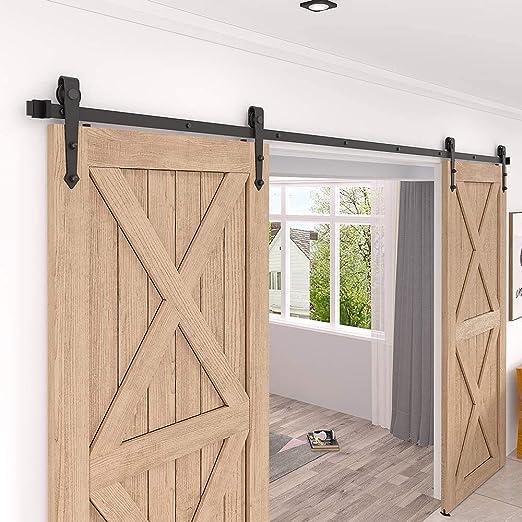 WINSOON - Kit de armario de puerta corredera de 1,5 m para puertas correderas de doble puerta: Amazon.es: Bricolaje y herramientas