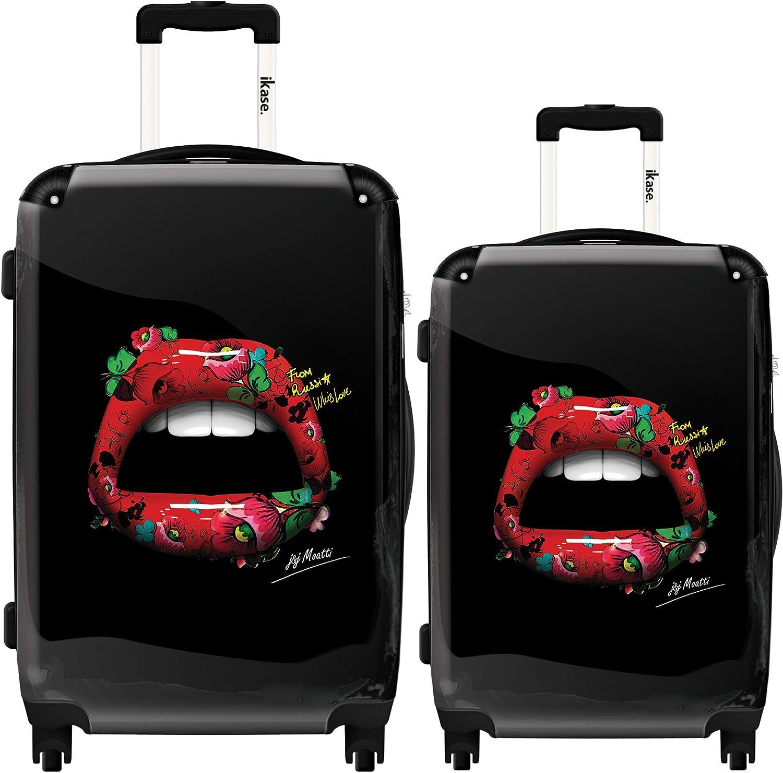 Ikase Hardside Spinner Luggage Lips 3D Matriochka