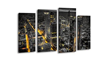 Top Kunstdruck Leinwand aus Vlies Frankfurt am Main Bild Bilder Wandbild XXL