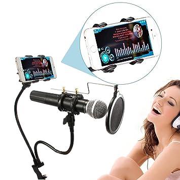 Mikrofon Mic Professionelle Shock Mount Mit Pop Schild Filtersieb Mikrofonstativ Heimelektronik Zubehör