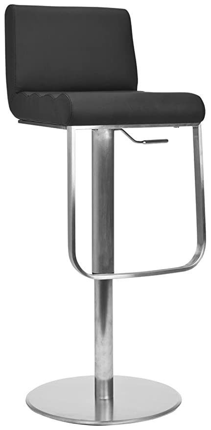 Stupendous Amazon Com Safavieh Home Collection Stanley Black Leather Lamtechconsult Wood Chair Design Ideas Lamtechconsultcom
