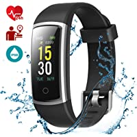 LATEC Montre Connectée, Fitness Tracker Podometre Smartwatch Bracelet Connecté IP68 Imperméable Tracker d'activité Moniteur de fréquence Cardiaque …
