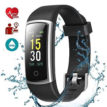 b8faea85e09e LATEC Pulsera Actividad, Fitness Tracker IP68 Impermeable Monitor de  Frecuencia Cardiaca 14 Modos Reloj Inteligente Mujer Hombre Pulsera  Deportiva ...