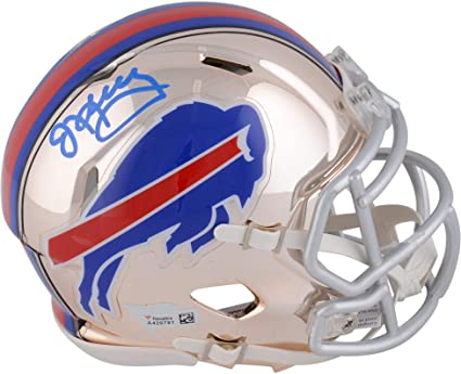 47c159aa301 Jim Kelly Buffalo Bills Autographed Riddell Chrome Alternate Speed Mini  Helmet - Fanatics Authentic Certified