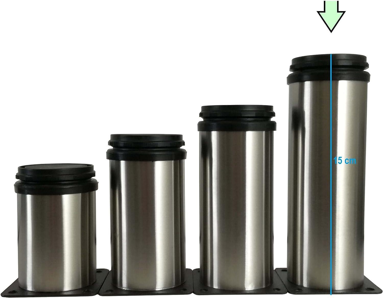 8 cm Verschiedene Gr/ö/ßen vielseitig einsetzbare F/ü/ße f/ür M/öbel Sofa Schrank Tisch 4X M/öbelf/ü/ße verstellbar aus Metall