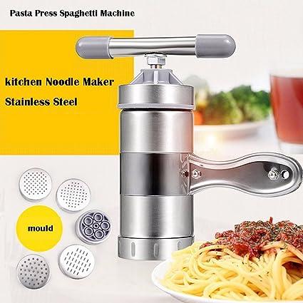 NACCO Fideos máquina para Pasta Acero Inoxidable con 5 Molde de Fideos
