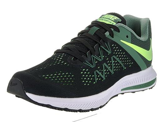 Nike Men's Zoom Winflo 3 Black/Ghost Green/Green Stone Running Shoe 13 Men