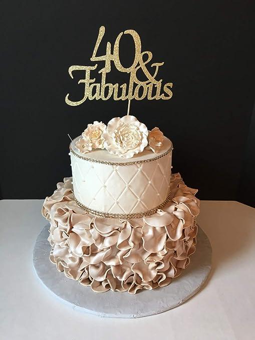 Funlaugh - Decoración para tarta de 40 cumpleaños con ...