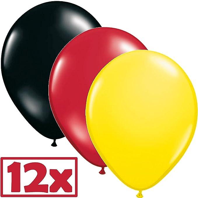 328 Juego de decoración set * * para una fiesta de países//Alemania con bandera de banderas de cadena + + Pom Poms + de para muffins + Picker + Globos + ...