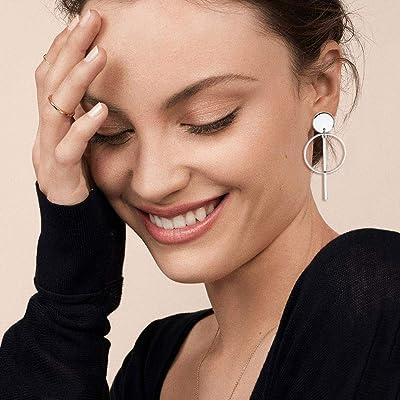 6Pairs Boho Tassel Leaf Earrings Set Women Ear Stud Hook Dangle Jewelry