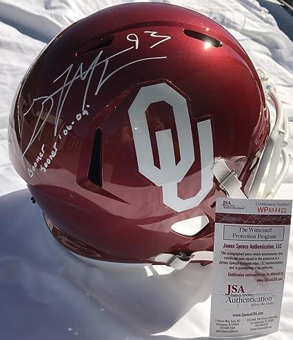 83af7c7c9 Signed Gerald McCoy Helmet - Oklahoma Sooners Speed Full Size Certified -  JSA Certified - Autographed