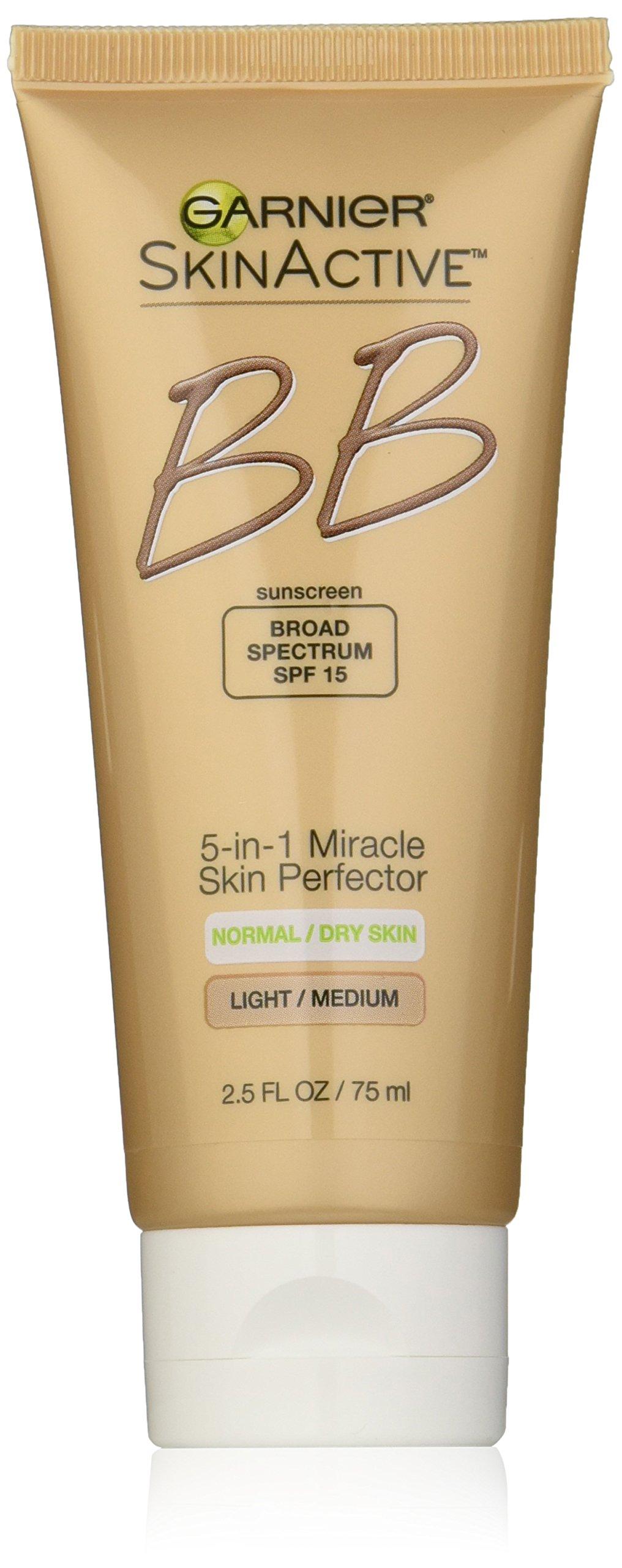 Garnier Skin Renew Miracle Skin Perfector B.B. Cream, Light and medium, 2.5 Fluid Ounce (Packaging May Vary)