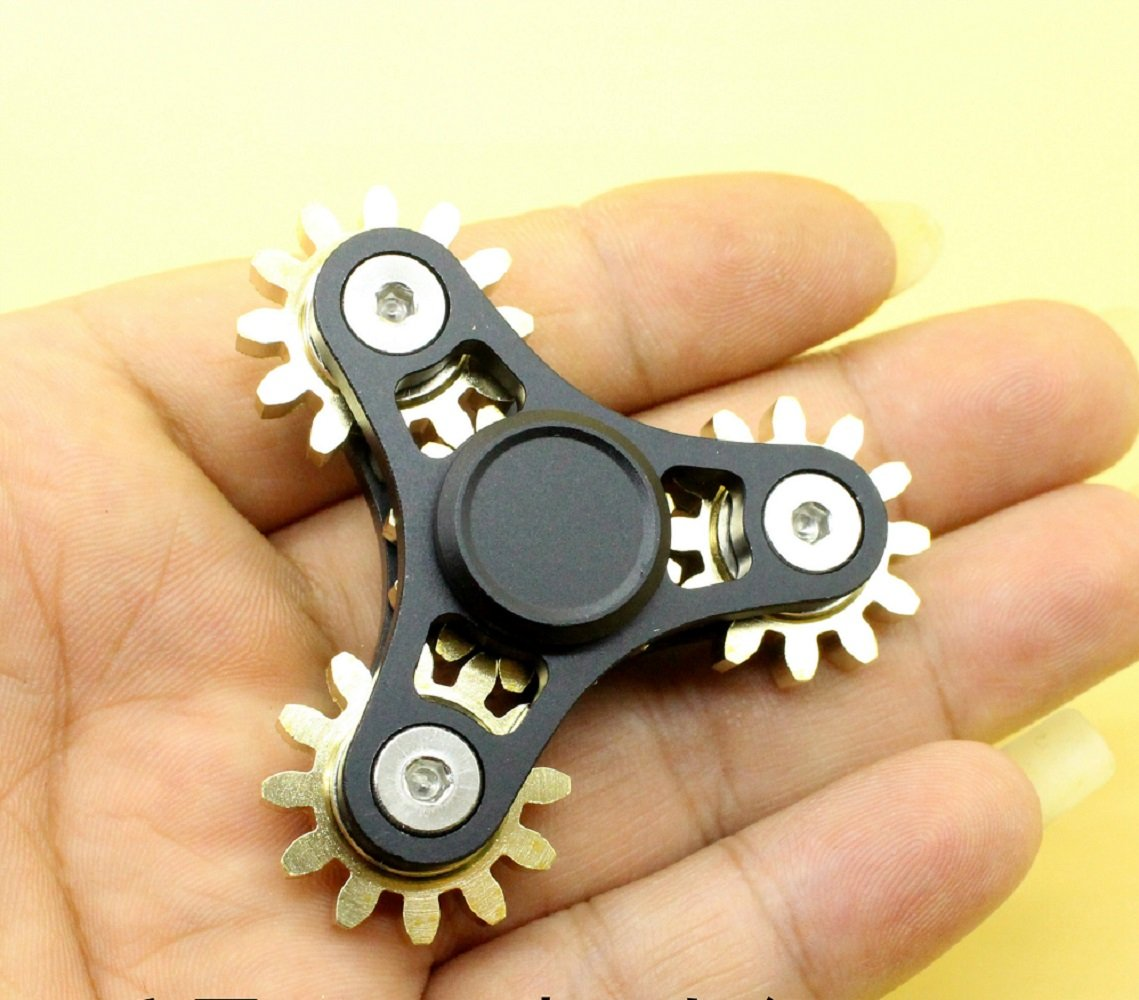 DoDoMagxanadu 4 Gear Fidget Spinner Metal Brass Linkage Metal Gear Hand Spinner Fidget Toy Relievers Stress and Anxiety Anti Depression Toy by DoDoMagxanadu (Image #3)