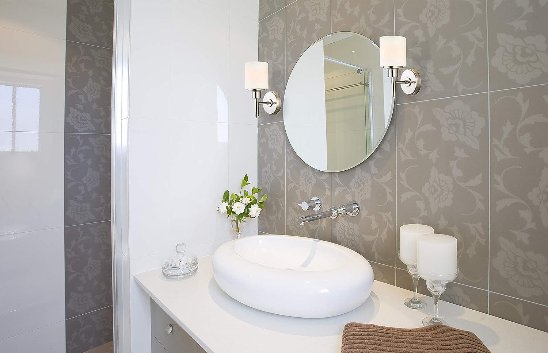 Satin Nickel HI Design House Design House 556191 Aubrey 2 Light Wall Light