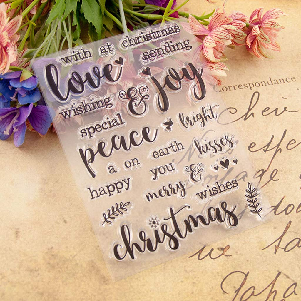 WHER Merry Christmas Silicone Clear Seal Stamp DIY Scrapbooking Embossing Photo Album Decorative Paper Card Craft Art Handmade Gift