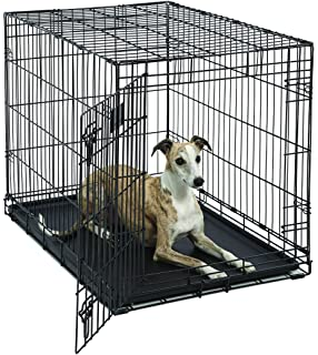 Amazon everila dog crate cage kennel replacement galvanized midwest life stages heavy duty folding metal dog crates single door double door eventshaper