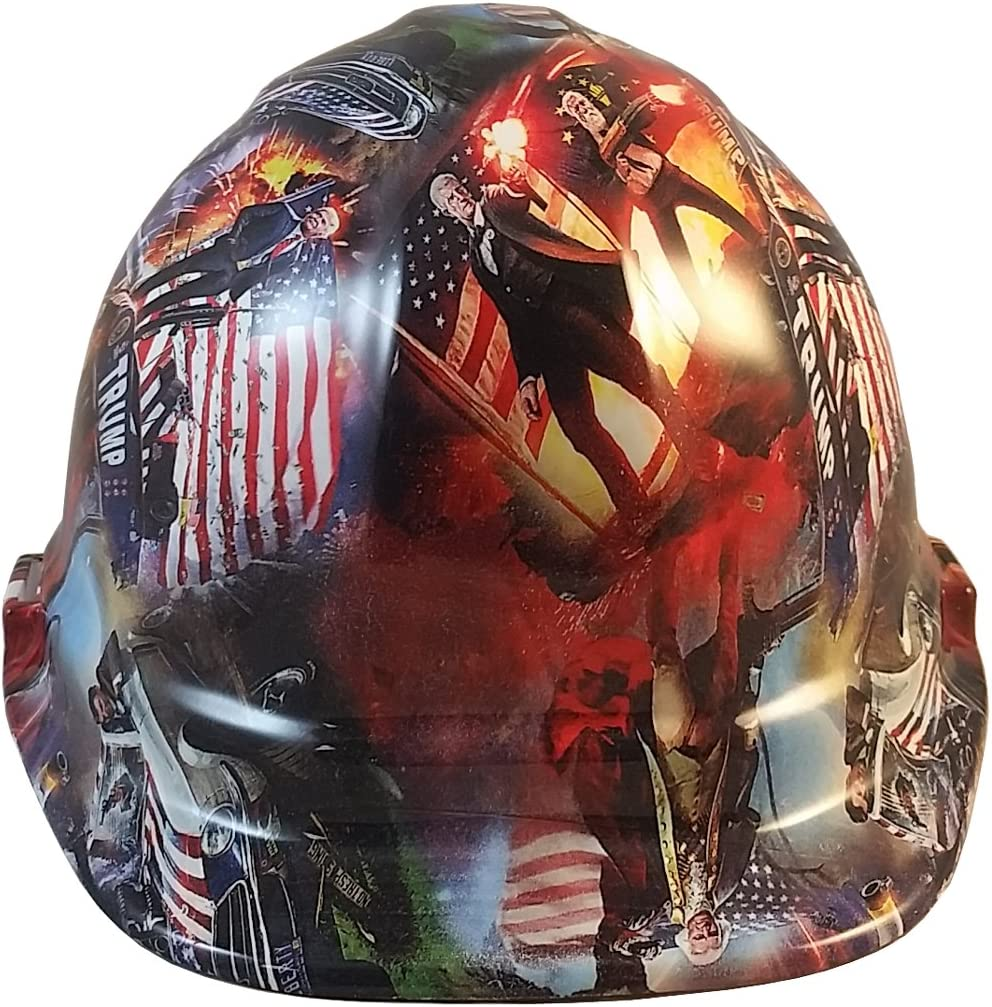 Texas America Safety Company Hydro Dipped Cap Style Hard Hat Trump All Stars