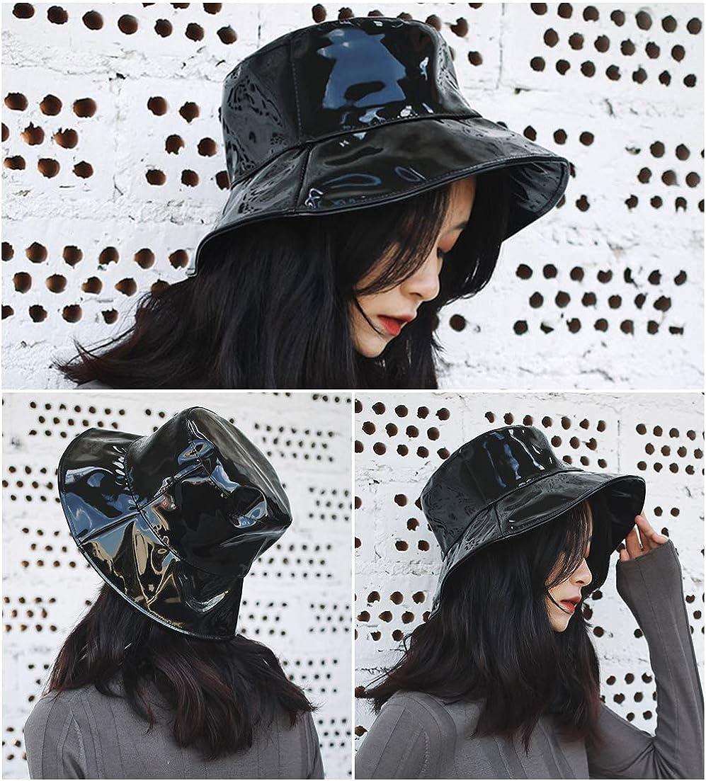 Womens Rain Hats Waterproof Rain Hat Wide Brim Bucket Hat Rain Cap