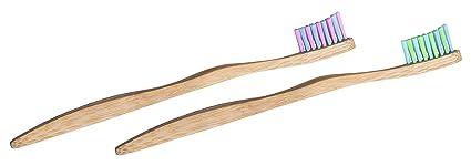 Cepillos de dientes para niños de bambú superecológicos biodegradables, marca WooBamboo (2 unidades)
