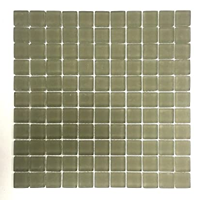 1x1 Sierra Frosted Finish Glass Mosaic Tile Backsplash Bath Kitchen