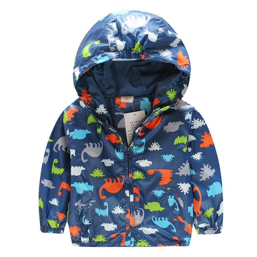 Magical Baby Little Boys Casual Trendy Dinosaur Zipper Hoodies Jacket Outerwear