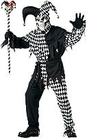 California Costumes Men's Adult- Black Evil Jester Costume