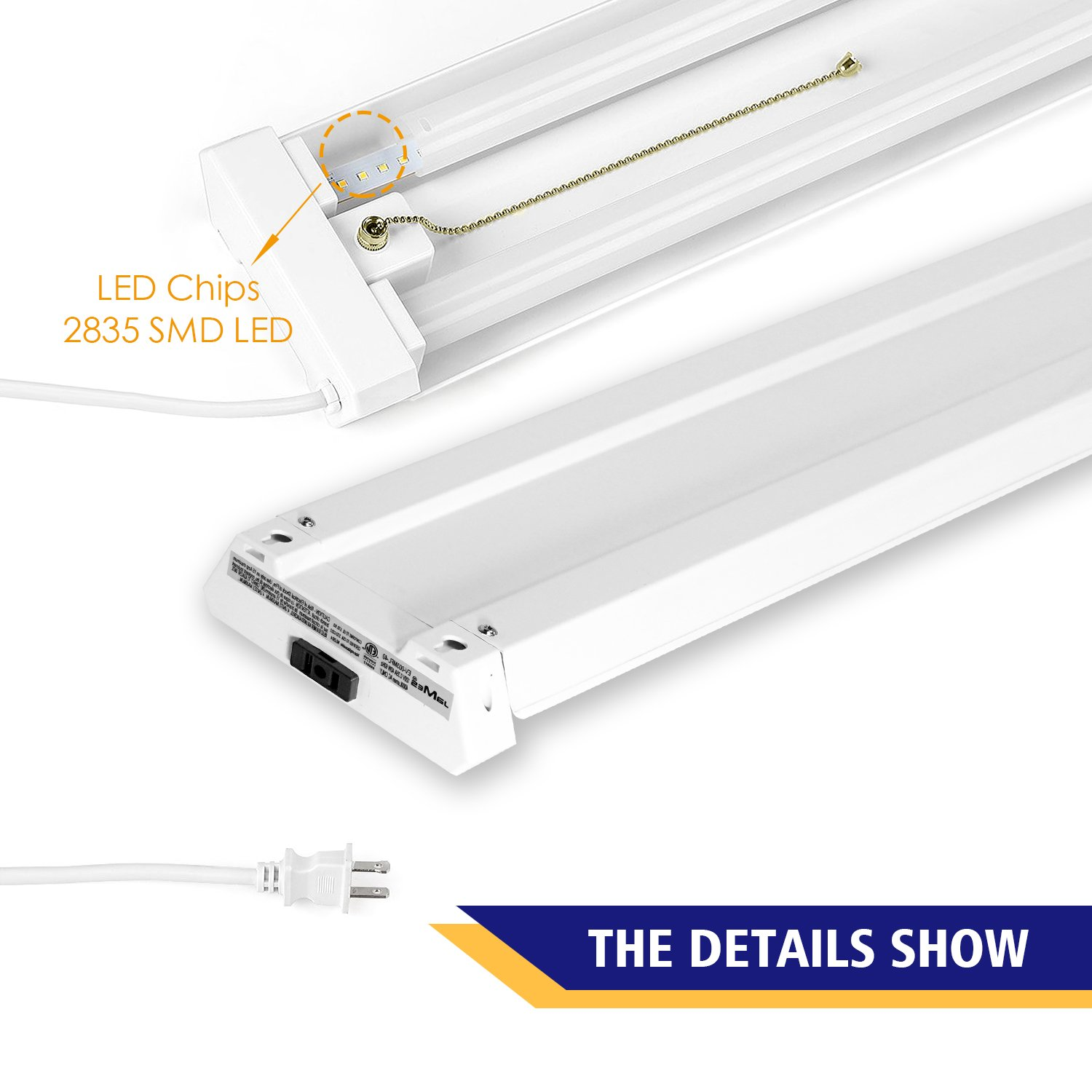 EVE 40W 4ft Linkable LED Utility Shop Lights For Garage