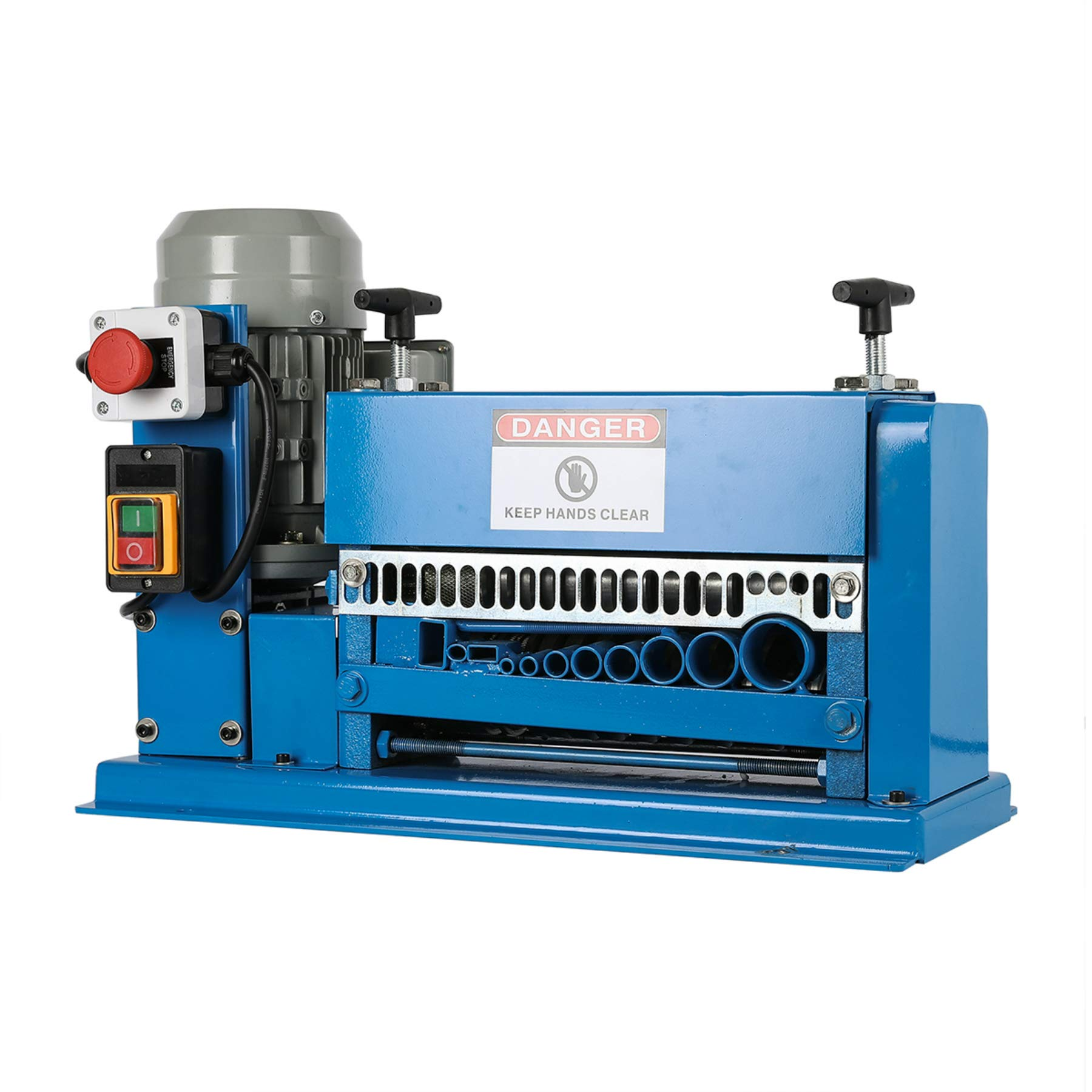 CO-Z Wire Stripping Machine 1.5mm to 38mm Diameter with 11 Channels Wire Stripping Machine Tool Manual Hand Cranked Industrial Wire Stripping Equipment by CO-Z