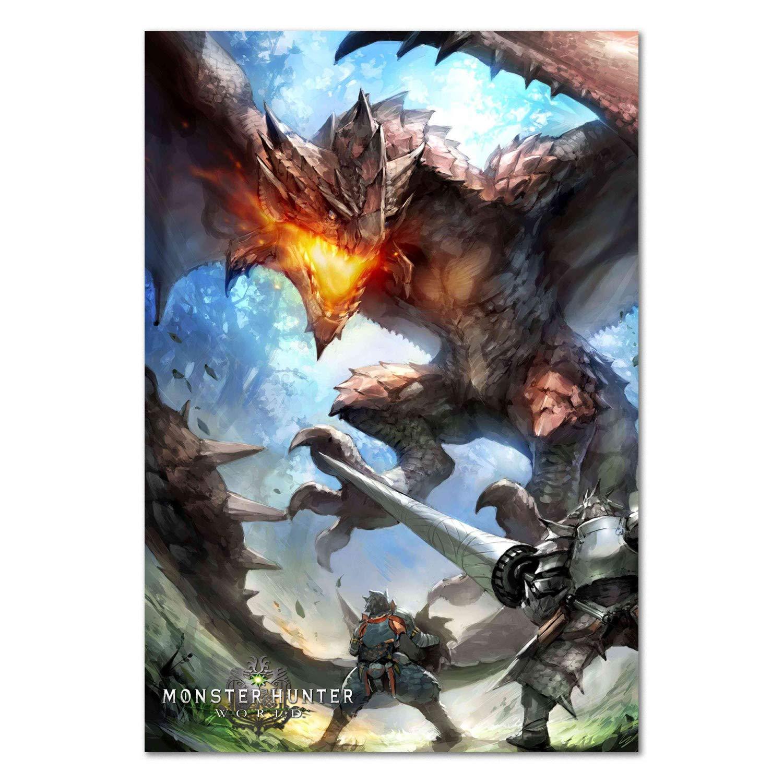 Amazon Com Printing Pira Monster Hunter World Game Poster