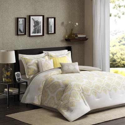 Madison Park Libreto 7 Piece Comforter Set Queen Size | Wayfair