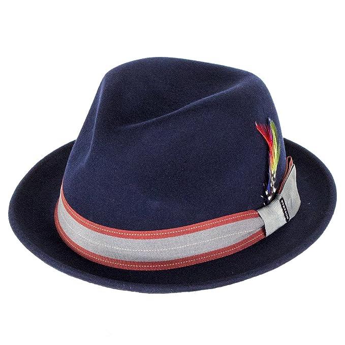 Stetson Hats - Sombrero de vestir - para hombre azul azul marino Large   Amazon.es  Ropa y accesorios 89265edd28d
