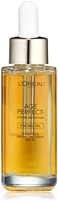 L'Oréal Paris Age Perfect Hydra Nutrition Face Oil with SPF 30, 1 fl. oz.