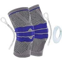 قطعتان من دعامة الركبة القابلة للتعديل لممارسة الرياضة - مناسبة للركب ولممارسة رياضة الركض ولعب كرة السلة وكرة الطائرة…
