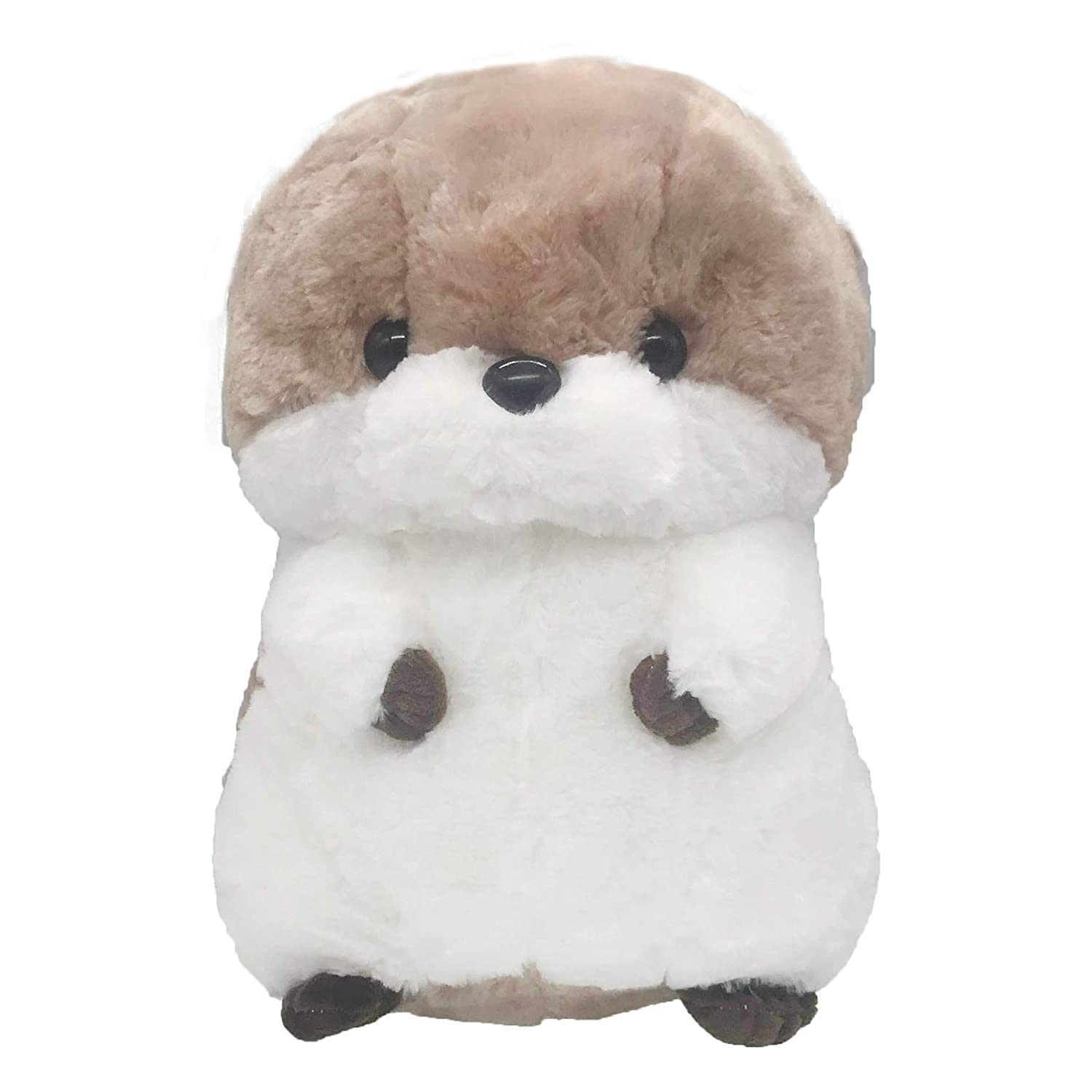Otter Stuffed Animal Durable Fluffy Sea Otter Plush Cuddly Stuffed River Otter Soft Wildlife Animal Plush Adorable Otter Toy Creative Gifts Collection for Children Baby Kids Toddler Girls 12 Coffee