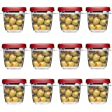Rubbermaid Easy Find Lids Square 1/2-cup Food Storage Container (Pack of 12 Cups)