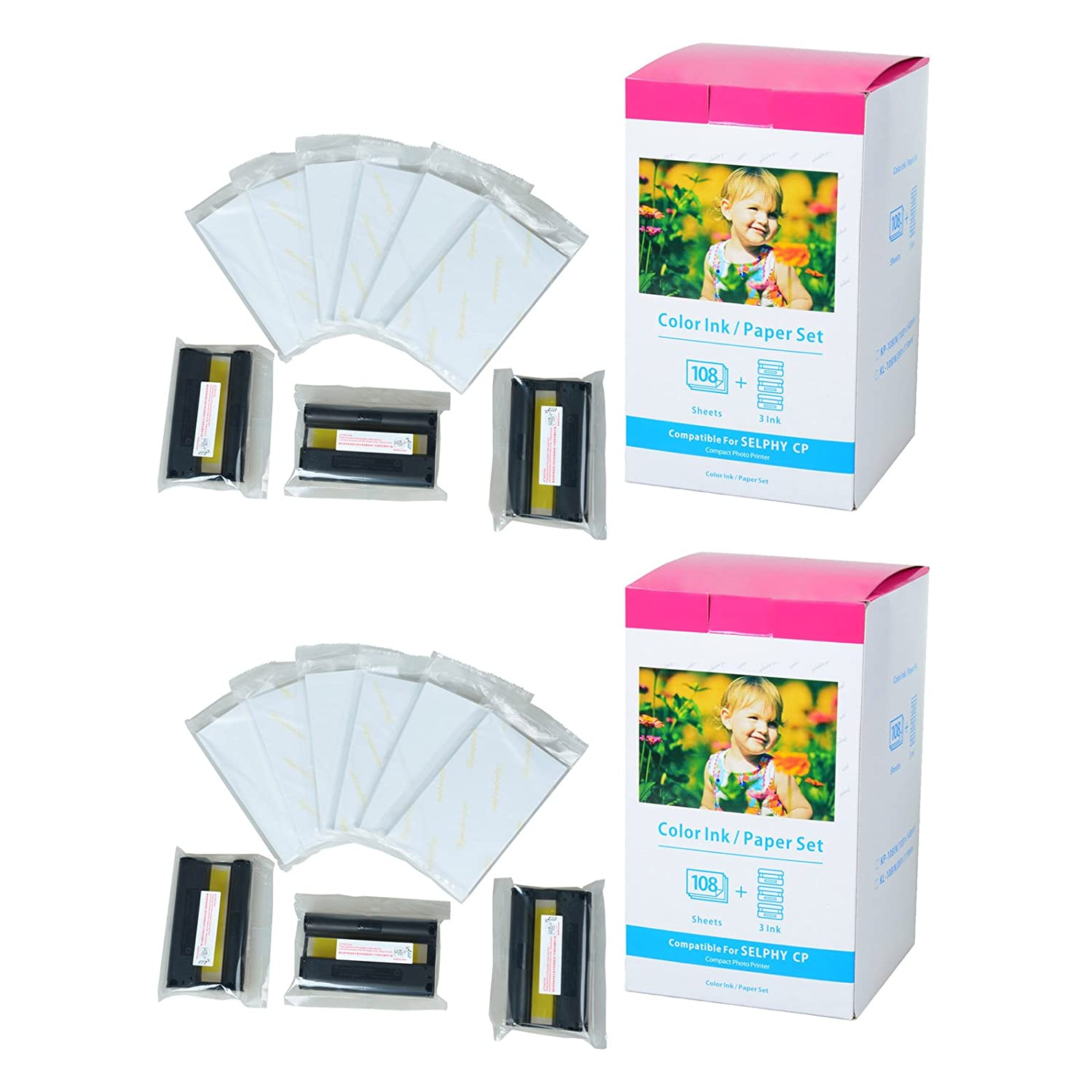1set KP-108IN Color Ink Photo Paper for Canon Selphy CP760 CP790 CP710 CP720