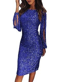 42d0d10d8 Aleumdr Mujer Vestido de Noche Vestido de Moda Falda Elegante para Fiesta  Size S-XL