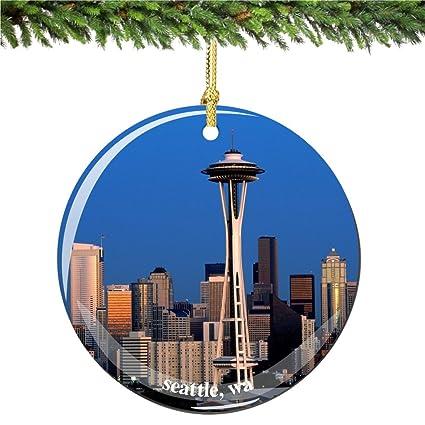 Amazon.com: Seattle Christmas Ornament, Porcelain 2.75