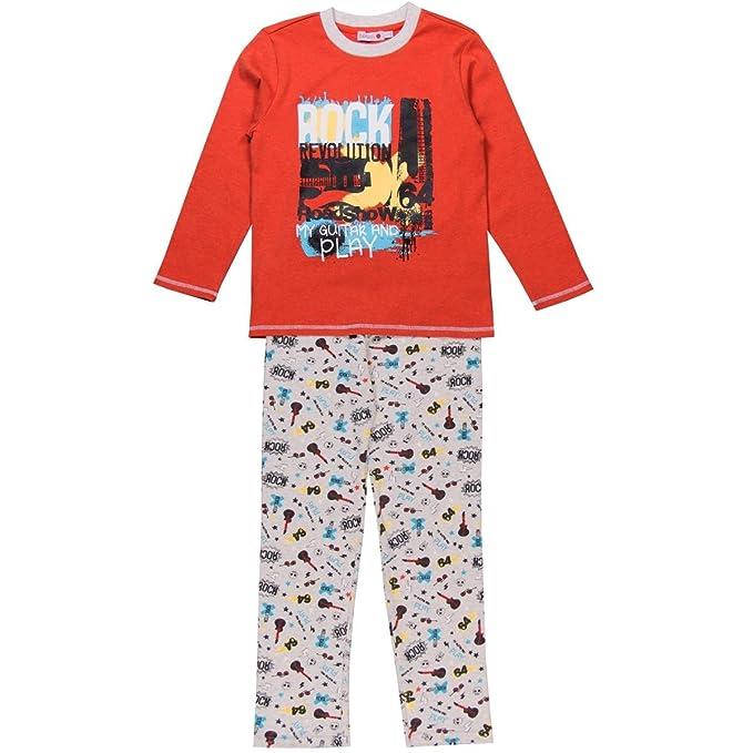 boboli Interlock Pyjamas for Boy, Conjuntos de Pijama para Niños, Naranja (Paprika 3546